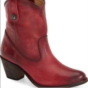 Frye Jackie Button Ankle Boots Size 7.5